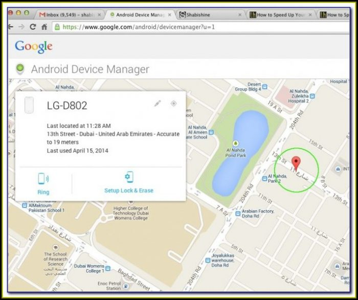 Locate Cell Phone Using Google Maps