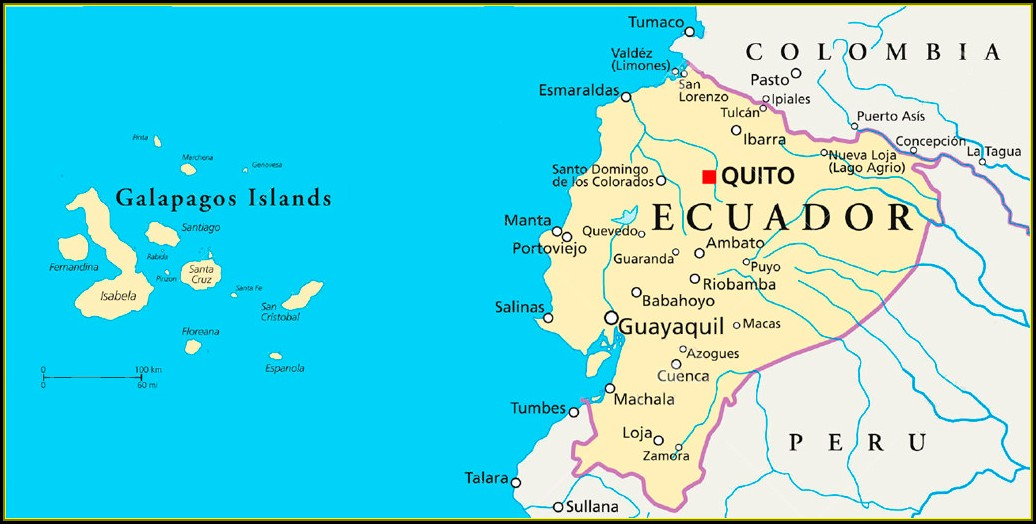 Map Ecuador Galapagos