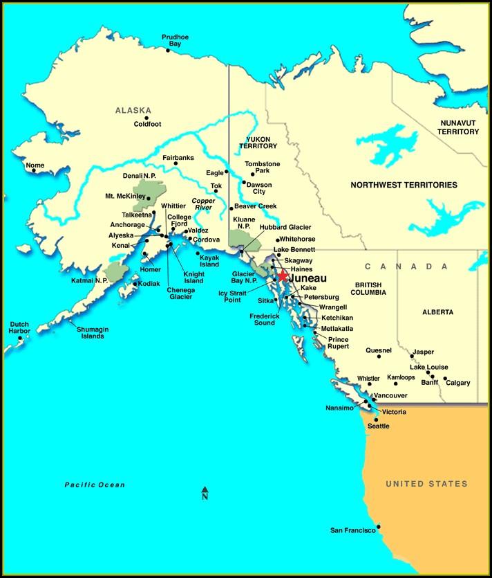 Map Juneau Ak