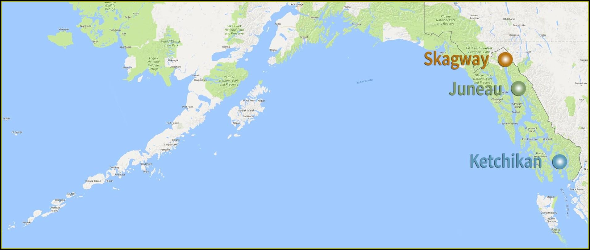 Map Juneau Alaska
