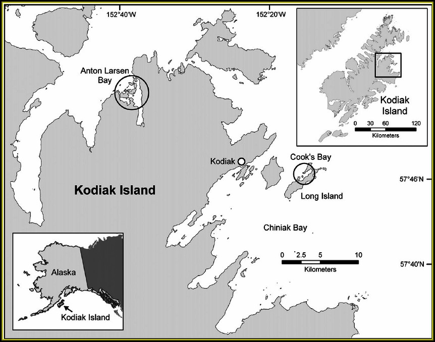 Map Of Alaska Showing Kodiak Island