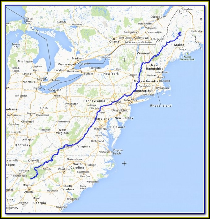 Map Of Appalachian Trail In Maine
