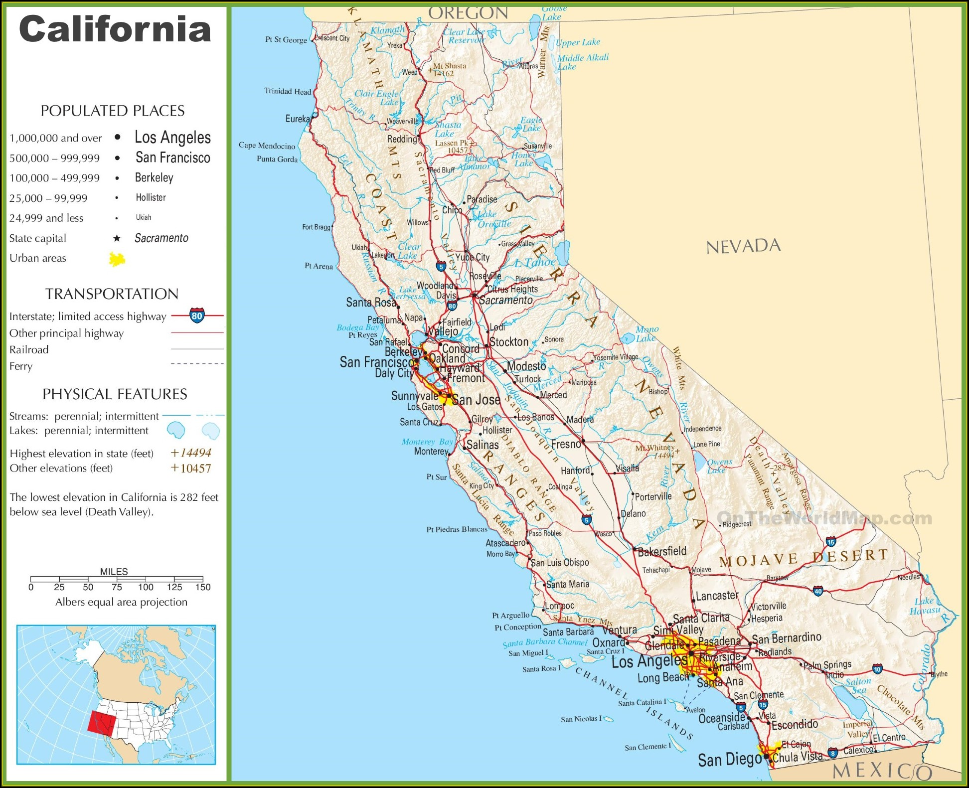 Map Of California Freeways