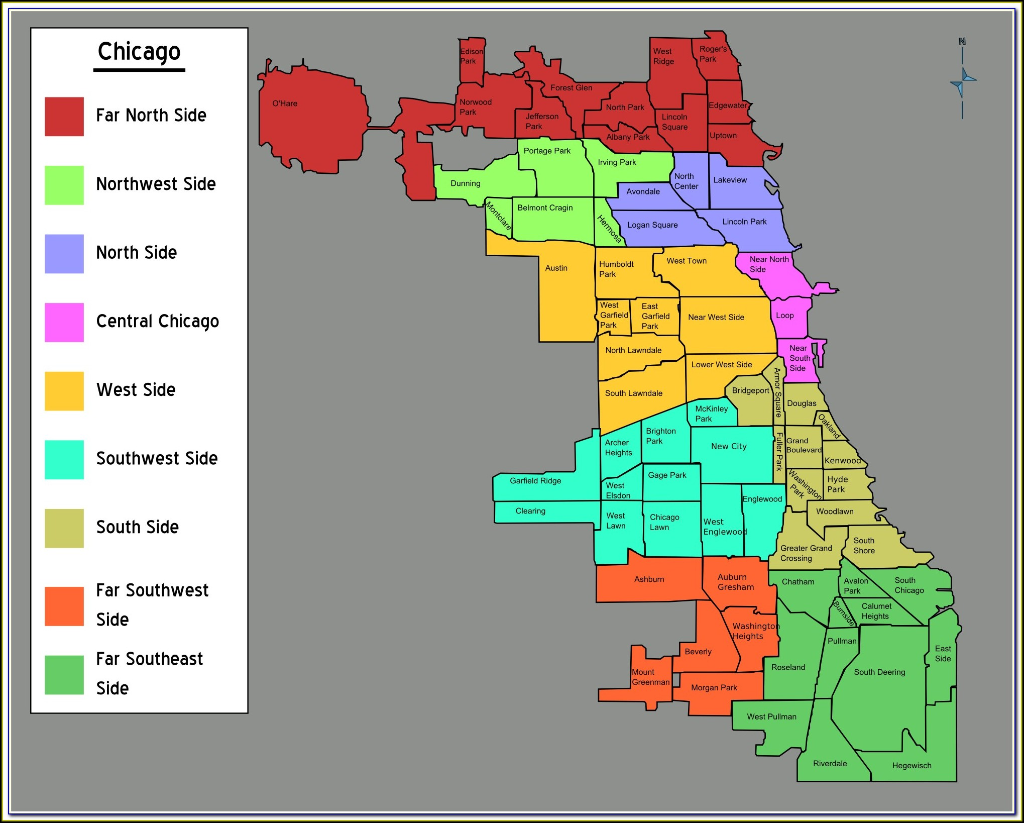 Map Of Chicago Neighborhoods Crime