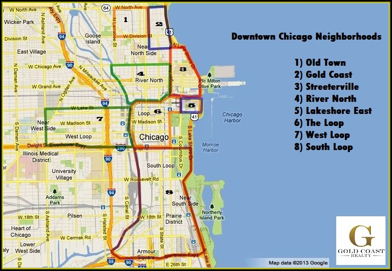 Map Of Chicago Neighborhoods Gold Coast