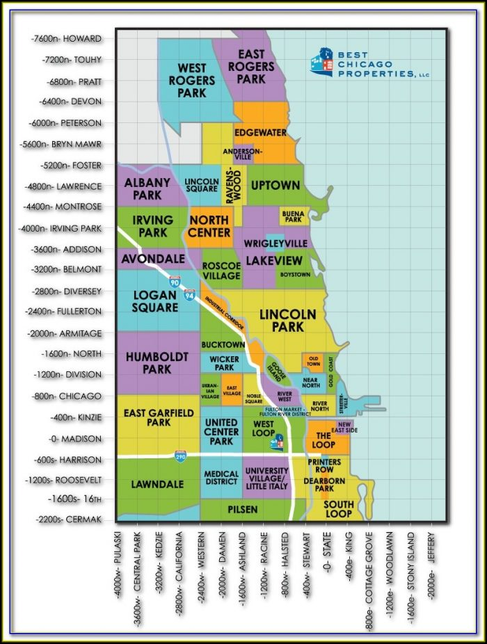 Map Of Chicago Neighborhoods With Zip Codes