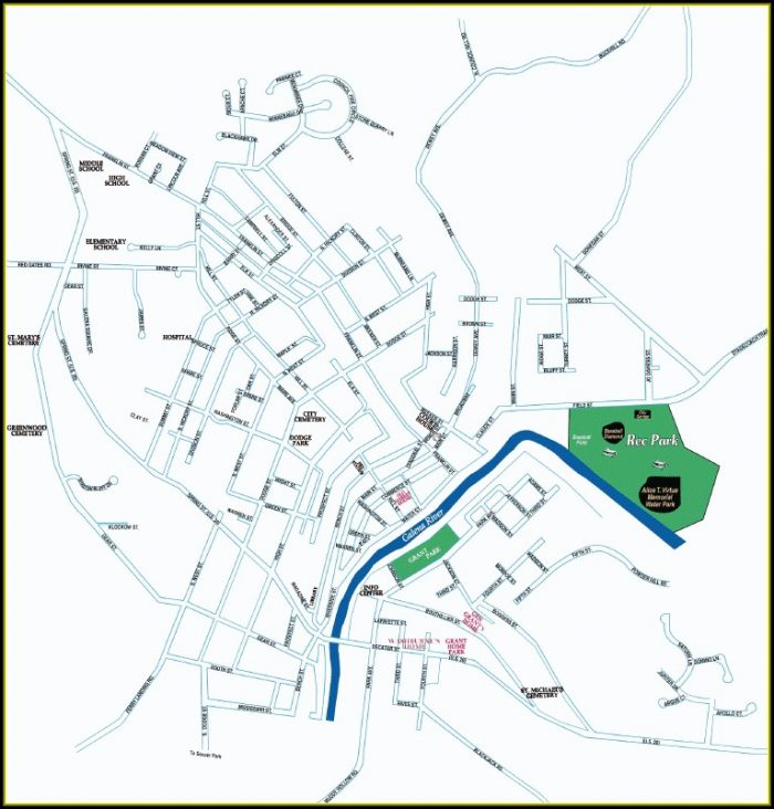 Map Of Galena Illinois