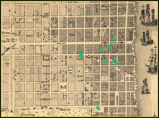 Map Of Historic Philadelphia In The Late 18th Century