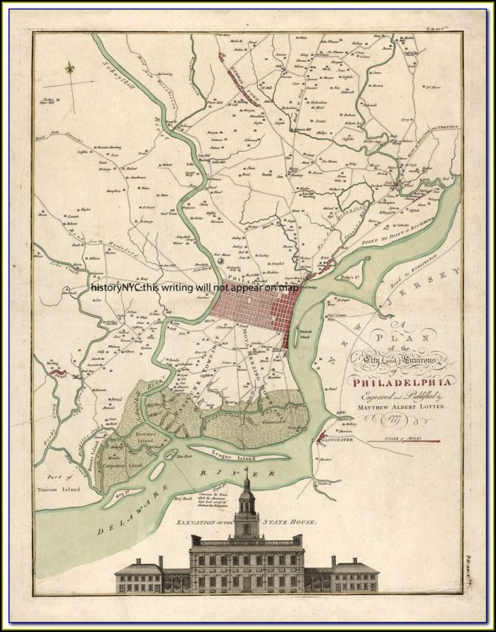 Map Of Historic Philadelphia Pa