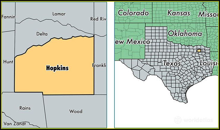 Map Of Hopkins County Tx
