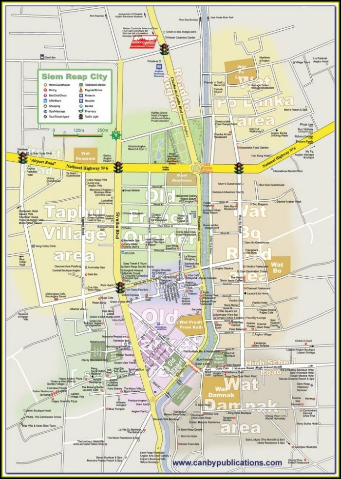 Map Of Hotels In Siem Reap Cambodia