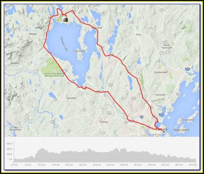 Map Of Little Sebago Lake Maine