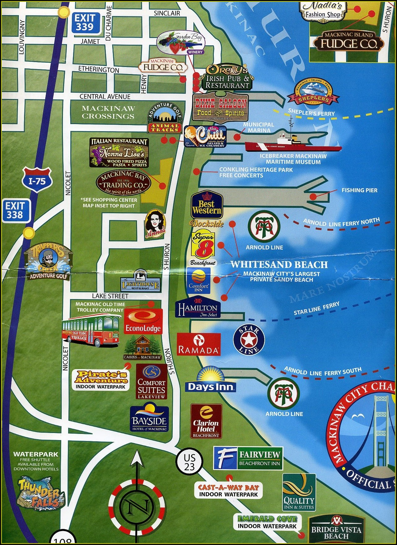 Map Of Mackinaw City Hotels