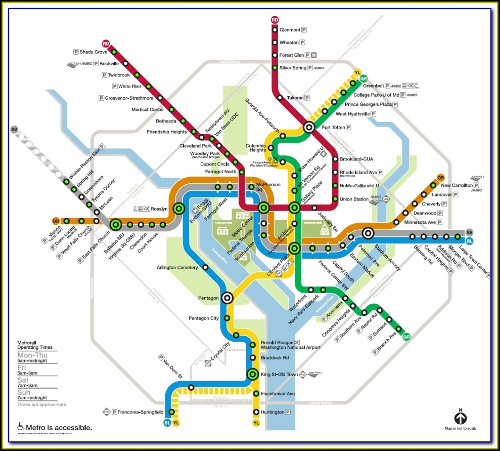 Map Of Metro Stations In Washington Dc