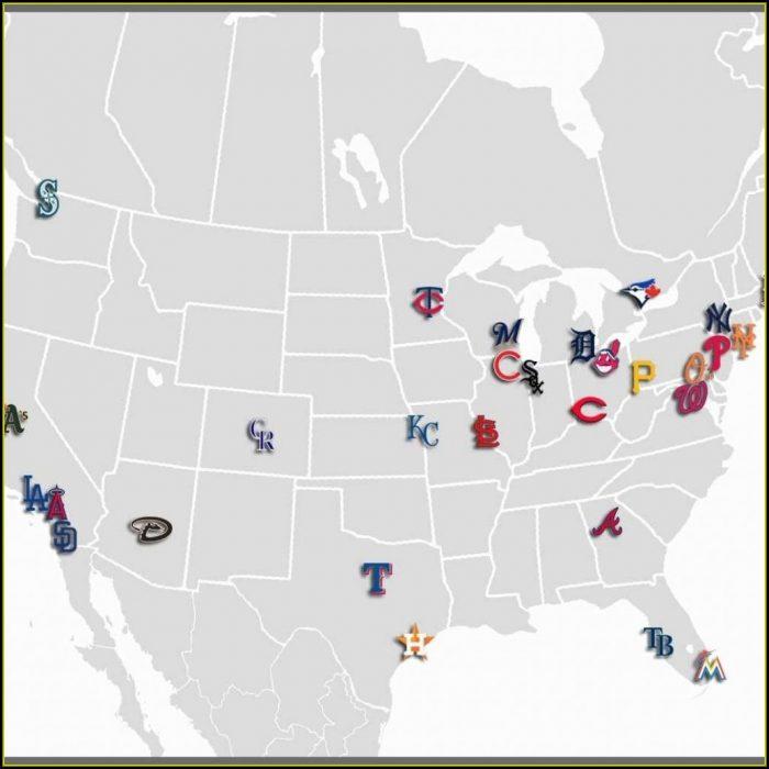 Map Of Mlb Ballparks
