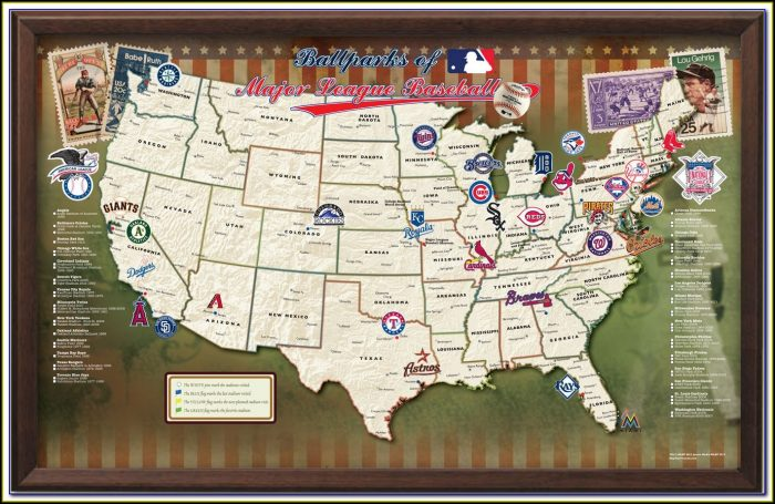 Map Of Mlb Stadiums In Usa