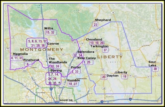 Map Of Montgomery County Texas Precincts