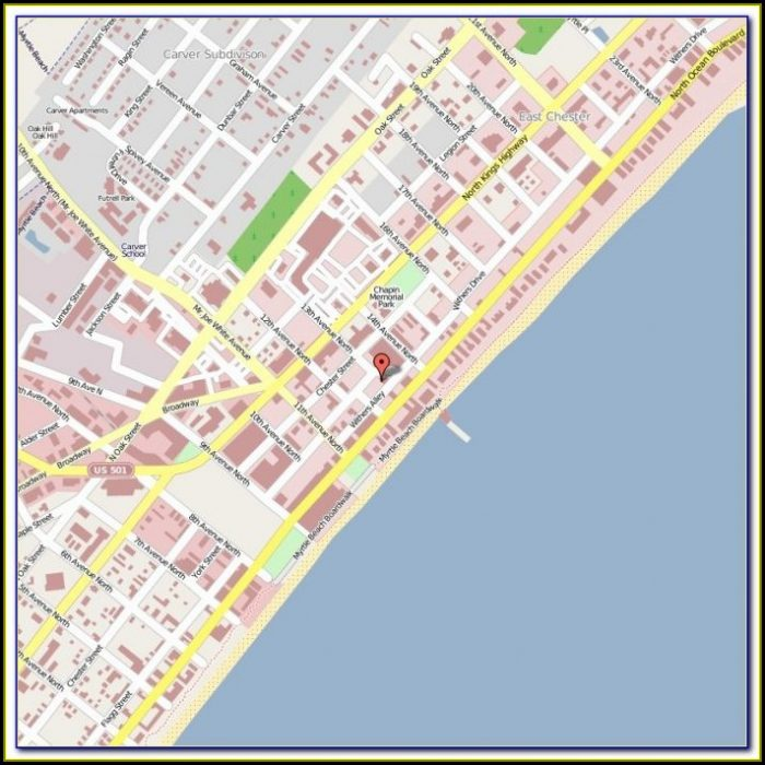 Map Of Myrtle Beach Area Hotels