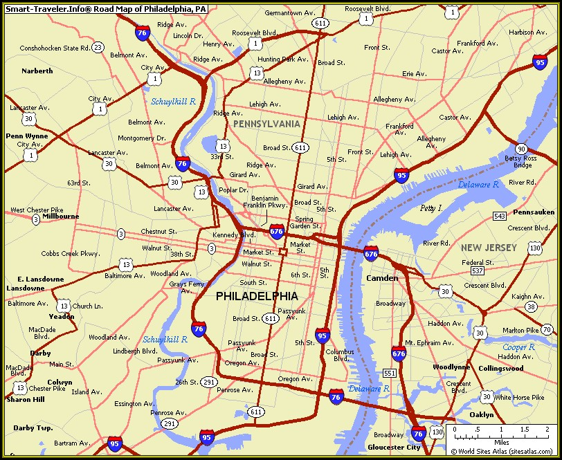 Map Of Phila