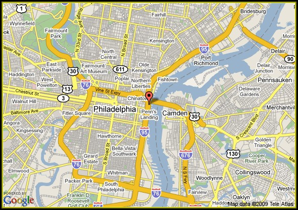 Map Of Philadelphia Historic Area