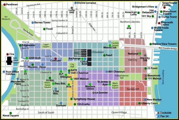 Map Of Philadelphia Historic Sites