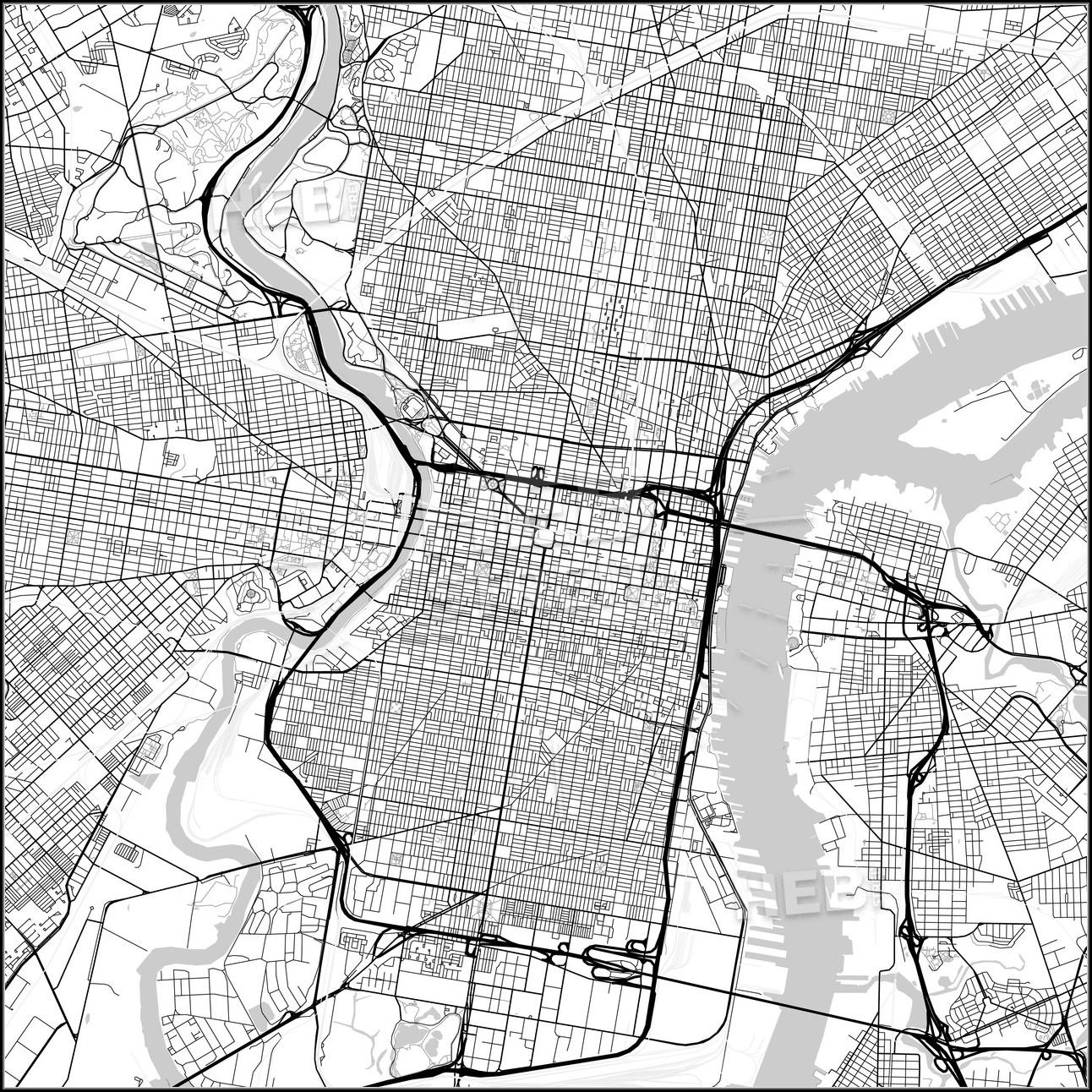 Map Of Philadelphia Pennsylvania