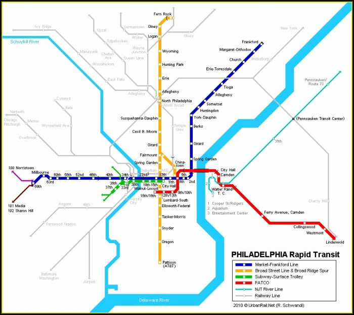 Map Of Philadelphia Subway