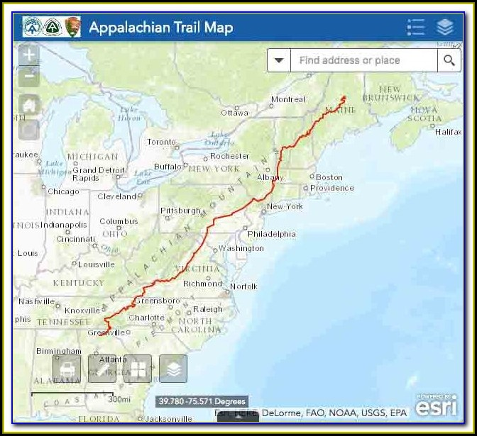 Map Of The Appalachian Trail In Pennsylvania