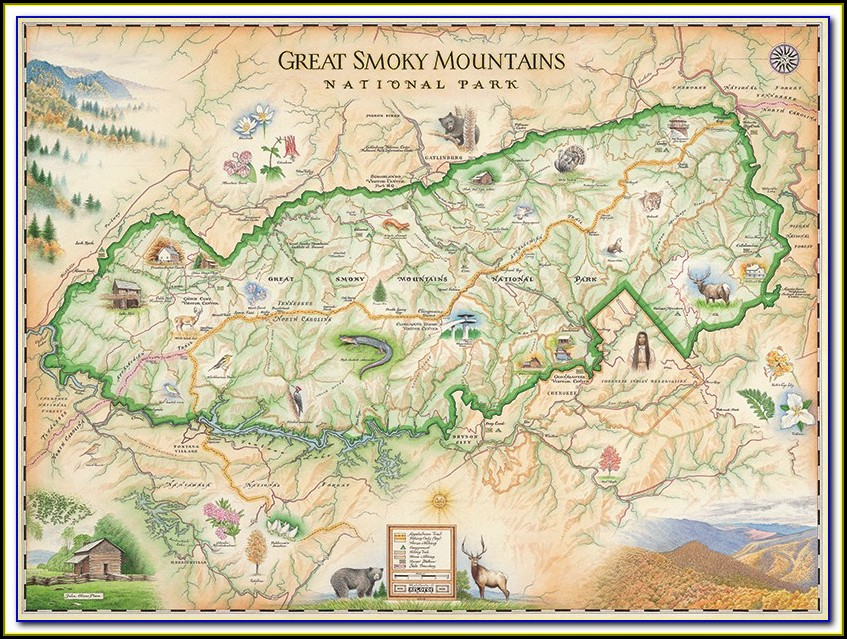 Map Of The Great Smoky Mountain National Park