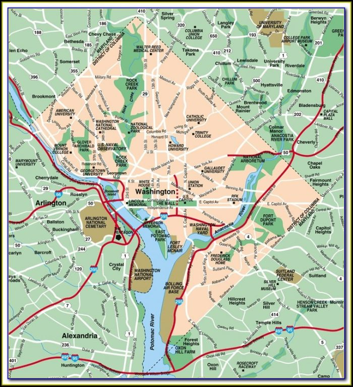 Map Of Wa Dc Area