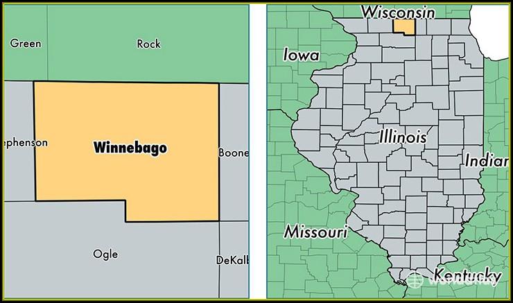 Map Of Winnebago County Illinois