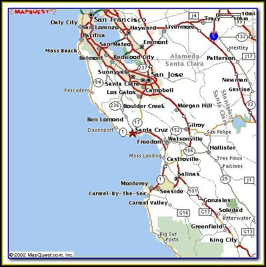 Map Of Zip Codes In Santa Clara County Ca