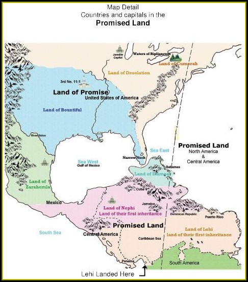 Maps Of Book Of Mormon Lands