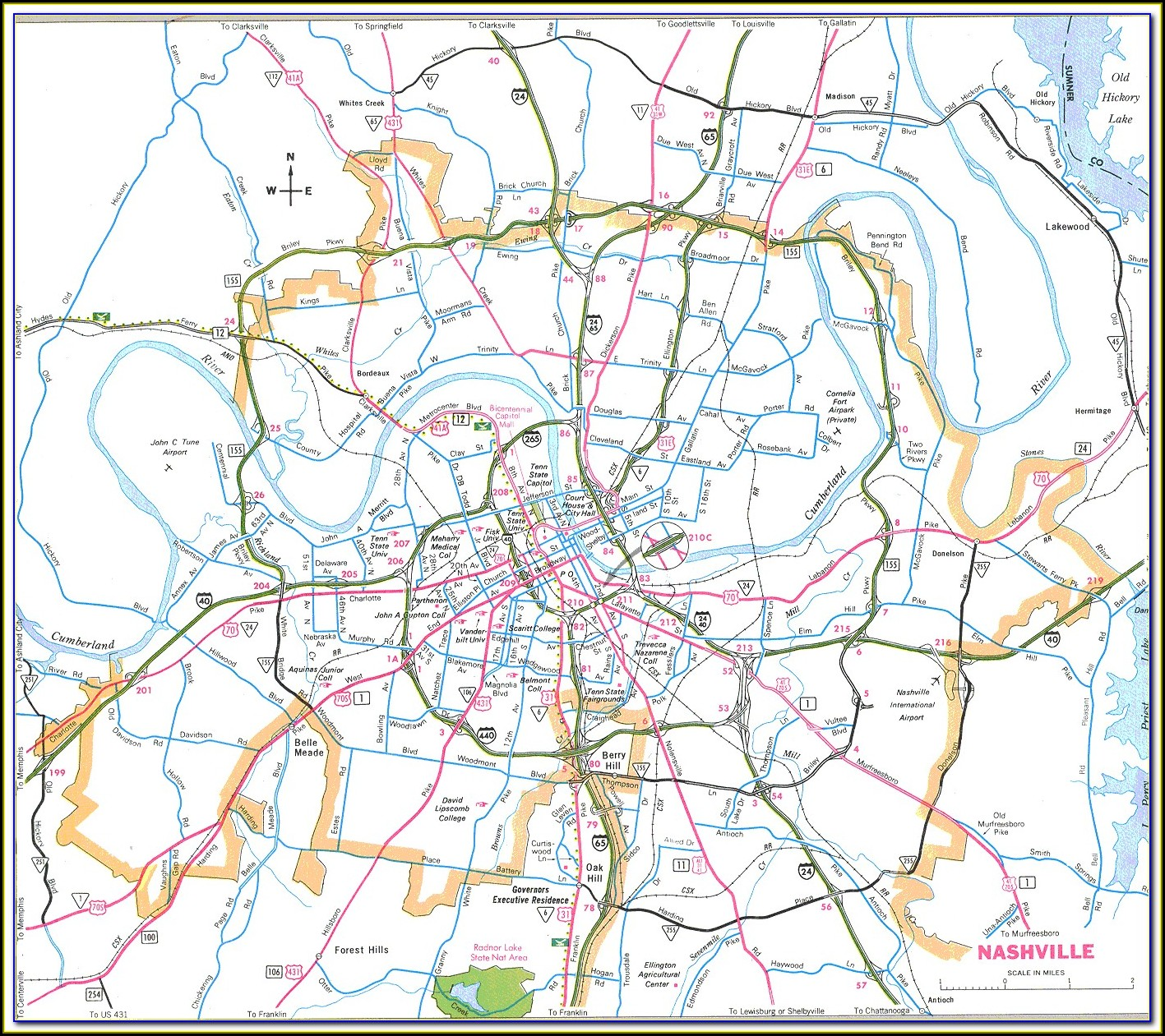 Maps Of Nashville Tn And Surrounding Area