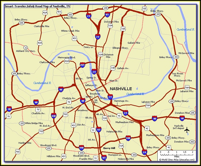 Maps Of Nashville Tn