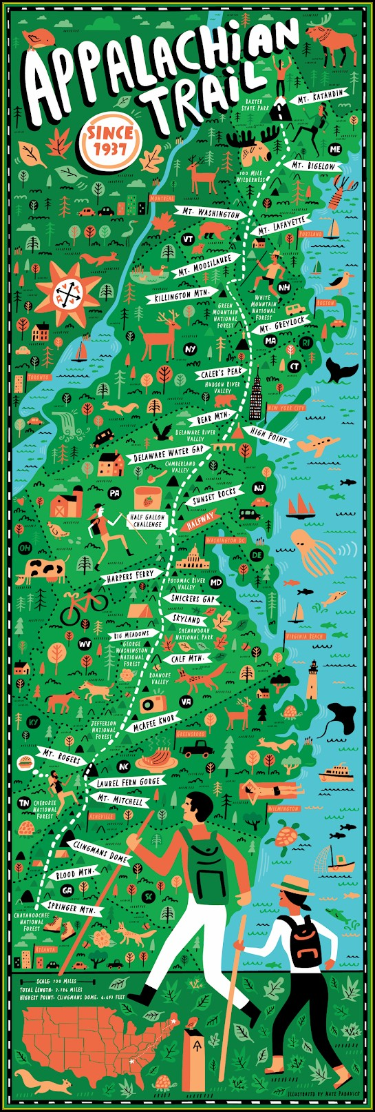 Maps Of The Appalachian Trail