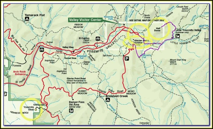 Maps Of Yosemite Campgrounds