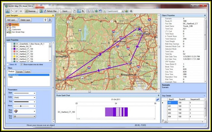 Maps Routing App Supported Modes