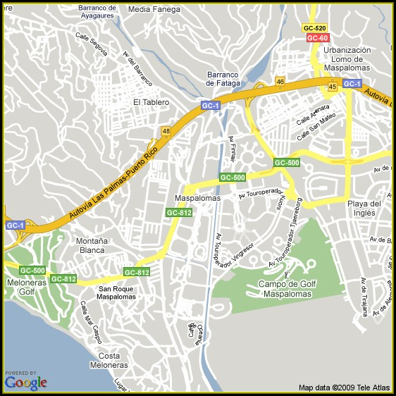 Maspalomas Hotels Map