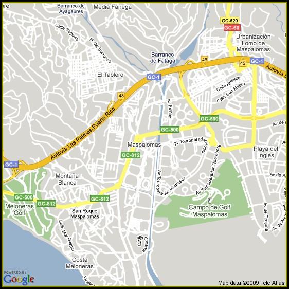 Maspalomas Hotels Map