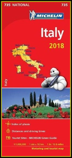 Michelin Map Italy 2018