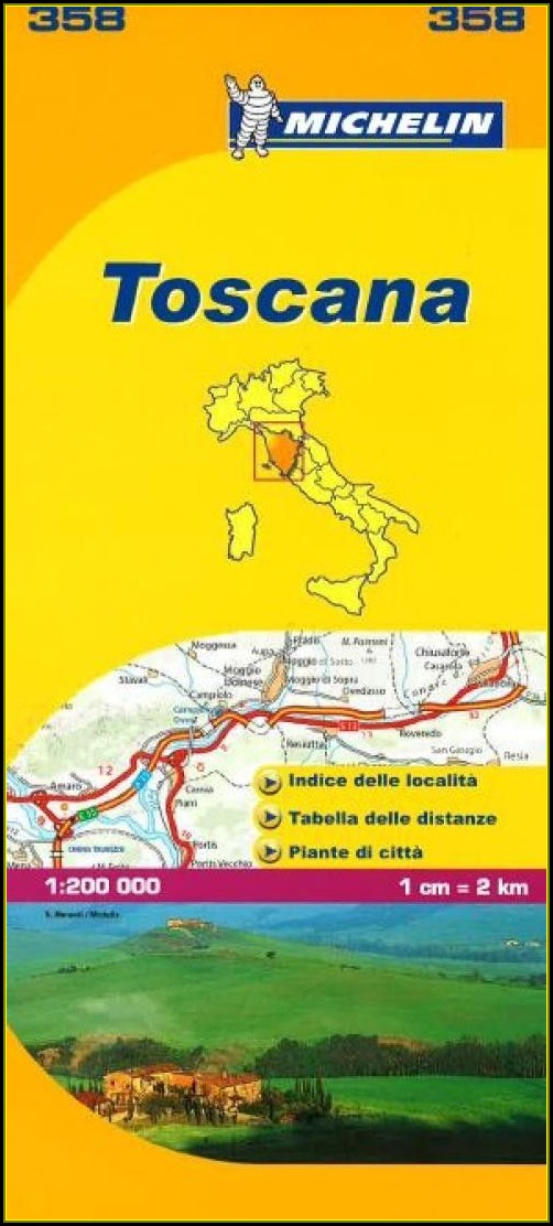 Michelin Map Italy Tuscany 358