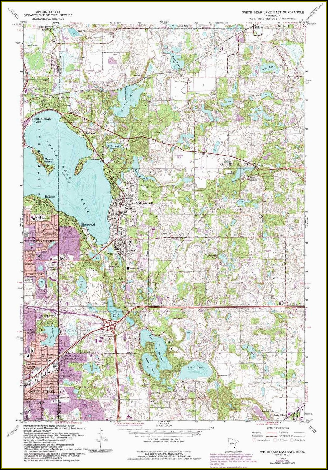Minnesota Lake Maps For Sale