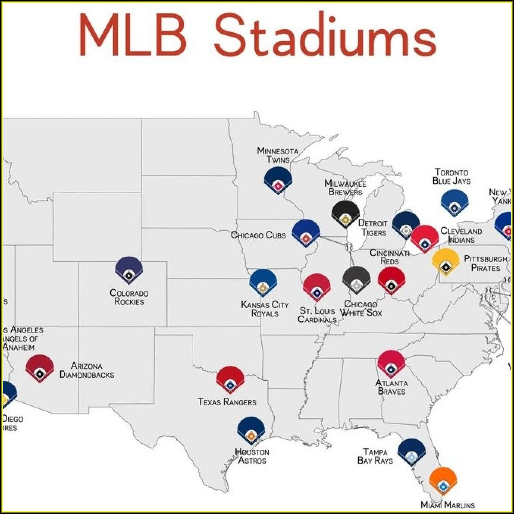 Mlb Ballparks Map