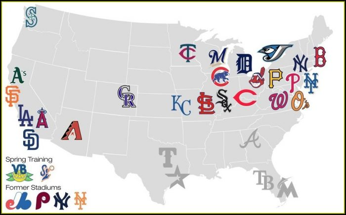 Mlb Map Of Stadiums