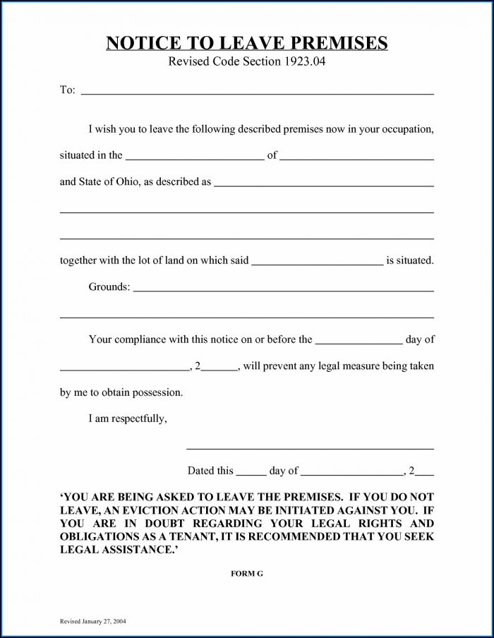 Florida Eviction Notice Form