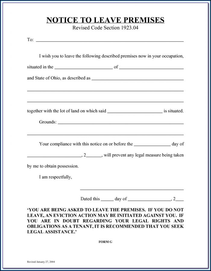 Florida Eviction Notice Form Pdf