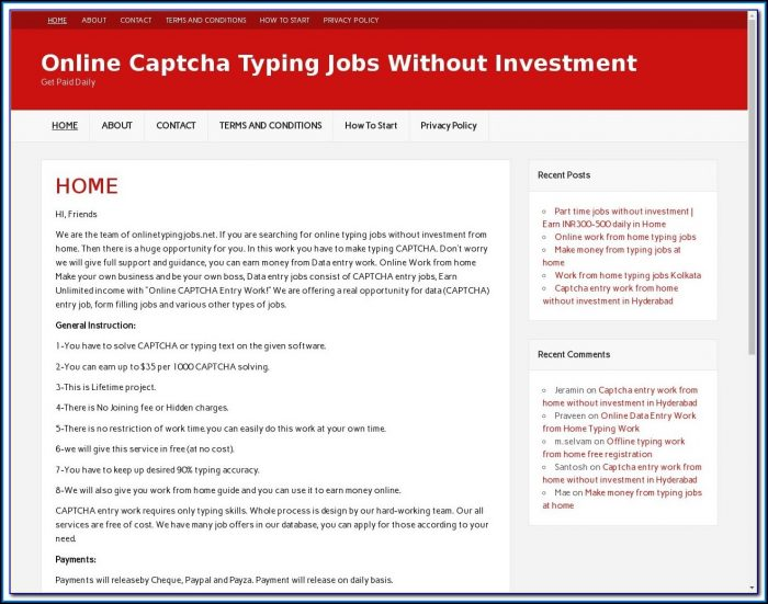 Form Filling Online Jobs Without Investment In India