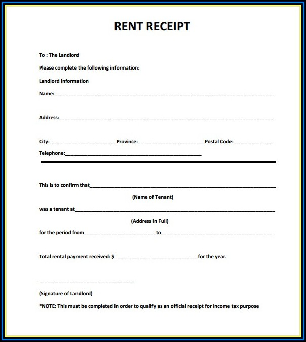 Free Download Rent Receipt Format India