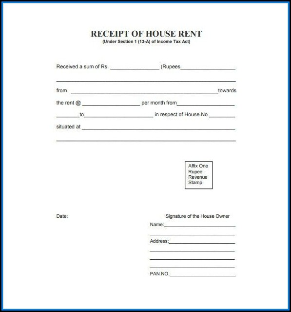 Free Download Rent Receipt Format Pdf